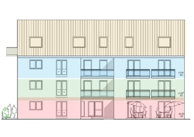 Wohnimmobilie - Augsburg-Haunstetten - Senefelder Str. 1 und 1a - Ansicht Süden