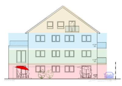 Wohnimmobilie - Augsburg-Haunstetten - Senefelder Str. 1 und 1a - Ansicht Westen